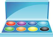 Paint box — Stock Vector
