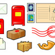 Stock Vector: Set of objects - Post