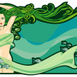 Stock Vector: River nymph