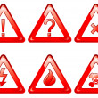 Danger signs set — Stock Vector
