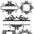 Decorative ornament elements — Stock Vector