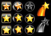 Étoiles de jeu d'icônes de Web — Vecteur