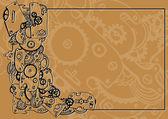 Clockworks background — Stock Vector