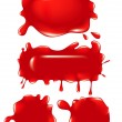 Vector de stock : Red Blob set