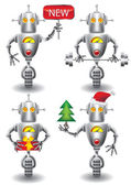 Robot set — Stock Vector