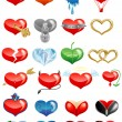 Stock Vector: Set of hearts icons