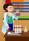 Woman chemist — Stock Vector