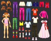 Dress the girl — Stock Vector