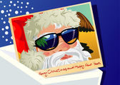 Postcard from Santa Claus — Stock Vector