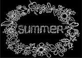 Summertime frame inscription — Stock Vector