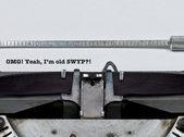 Omg! Ja, jag är gammal swyp?! — Stockfoto