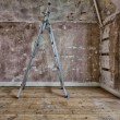 Stepladders in a room that is being decorated — Stock Photo