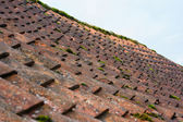 Weathered pantile roof — Stock fotografie