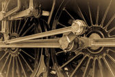 Steam Train Connecting and Piston Rods — Stock Photo