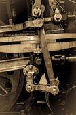 Steam Train Wheels - Piston and Connecting Rods — Stock Photo