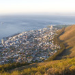 Stock Photo: Mountain scene overlooking SePoint, Cape Town, South Africa