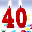 Stock Photo: Birthday candles showing Nr. 40