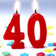 Birthday candles showing Nr. 40 — Stock Photo