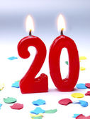 Birthday candles showing Nr. 20 — Stock Photo