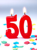 Birthday candles showing Nr. 50 — Stock Photo