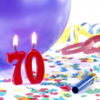 Stock Photo: Birthday candles showing Nr. 70