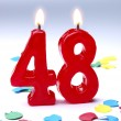 Birthday candles showing Nr. 48 — Stock Photo