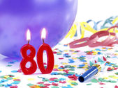 Birthday candles showing Nr. 80 — Stock Photo