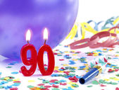 Birthday candles showing Nr. 90 — Stock Photo