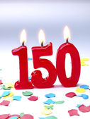 Birthday candles showing Nr. 150 — Stock Photo