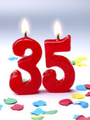 Birthday candles showing Nr. 35 — Stock Photo