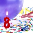 Stock Photo: Birthday candles showing Nr. 8