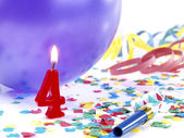 Birthday candles showing Nr. 4 — Stock Photo