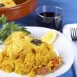 Crusted rice - Arroz con costra — Stock Photo