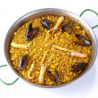 Fideua - Noodle paella - Stock Photo