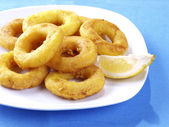 Calamares a la romana - Fried calamari — Stock Photo
