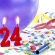 Birthday candles showing Nr. 24 — Foto de Stock