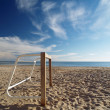 Soccer goal at beach — Stock Photo #13818893