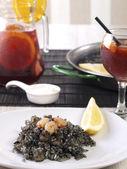 Arroz Negro – Black Rice — Stock Photo