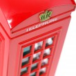 Stock Photo: British telephone box.