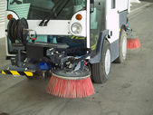 Street sweeper. — Stock Photo