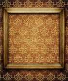 Vintage frame on wall — Stock Photo