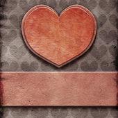Herz auf papier — Stockfoto