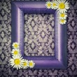 Vintage frame with decorative flower in corners — Zdjęcie stockowe