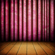 Old style room with curtains — Stockfoto