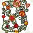 Floral ornament background — Stock Photo #34076565