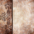 Vintage background with ornamental border — Stockfoto