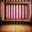 Frame on red curtain — Stock Photo