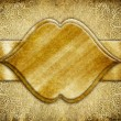 Vintage background with golden ornamental frame — Stock Photo