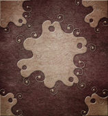 Decorative paper background (vintage scrapbook cover) — Photo