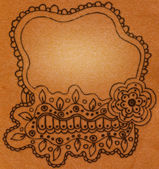 Ornate vector frame — Stock Photo